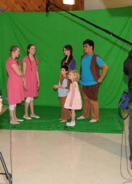 On set with Valley Wind Productions for The Storybook (mis)Adventures of Hanna and Greta