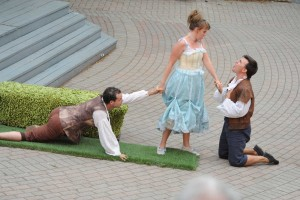 Background photo from A Midsummer Night's Dream at the St. Lawrence Shakespeare Festival in 2012.